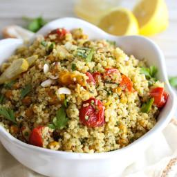Turmeric Roasted Chickpea and Quinoa Salad