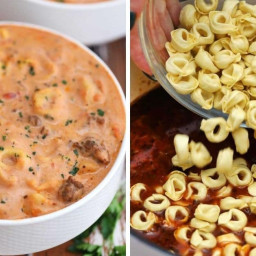 Turn sausage and simple tortellini into a hearty soup in no time!