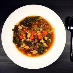 Tuscan Bean, Kale and Turkey Sausage Soup