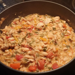Tuscan Lemon Chicken Orzo Primavera