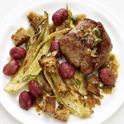 Tuscan Pork with Fennel and Grapes