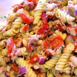 Tuscan Tuna Bean Pasta Salad