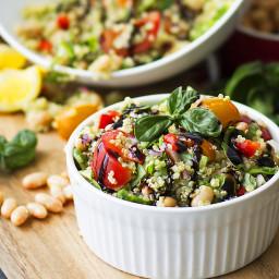 Tuscan White Bean and Quinoa Salad {Healthy, Gluten-Free, Vegan}