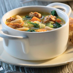 Tuscan White Bean Soup with Italian Sausage
