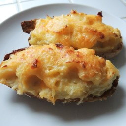 Twice-Baked Apple White Cheddar Potatoes
