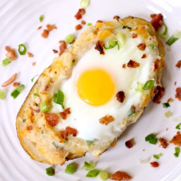 Twice Baked Bacon and Egg Potatoes