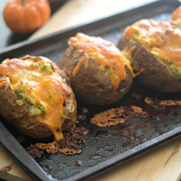 Twice Baked Broccoli and Three Cheese Potatoes