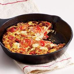 Two-Tomato, Basil, Goat Cheese Frittata