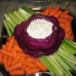 Two-Tone Slaw in a Cabbage Bowl