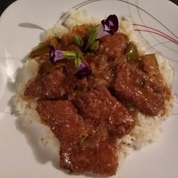 TX's Style ~ Onion ~ n ~ Pepper Round Steak {Emeril Lagasse}