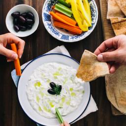 Tzatziki (Greek Yogurt Cucumber Dip)
