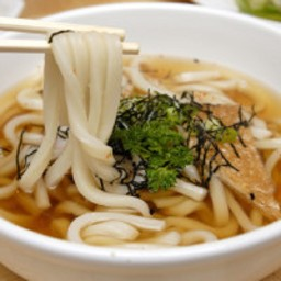 Udon Noodles in Shiitake-Ginger Broth