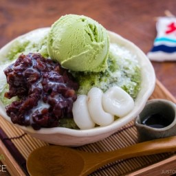 Ujikintoki (Green Tea Shaved Ice)