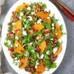Ultimate Fall Harvest Salad with Persimmon and Pomegranate