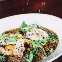 Umbrian Lentil Stew with Olive-Oil-Fried Eggs