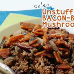Unstuffed Bacon-Beef Mushrooms