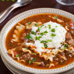 Lasagna Soup - Slow Cooker