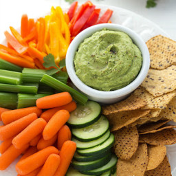 Avocado-Cilantro White Bean Dip