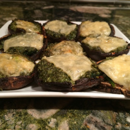 Pesto-Stuffed Portobello Mushrooms