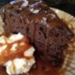 Chocolate Stout Cake with salted whisley caramel sauce