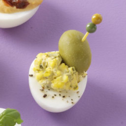 Dazzling Dirty Martini Deviled Eggs