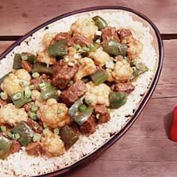Asian Beef and Cauliflower Stew