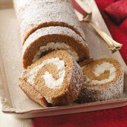 Pear Gingerbread Cake Roll