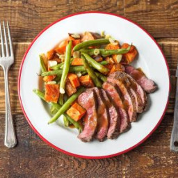Upgraded Steak and Potatoes with Green Beans Amandine