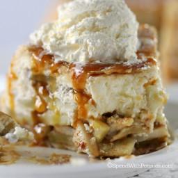 Upside Down Cheesecake Apple Pie!