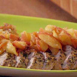 Uptown Pork Chops and Apple Sauce: Roast Pork Tenderloins with Escalloped A