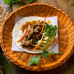 Vaguely Vietnamese Slow Cooker Pork Tacos