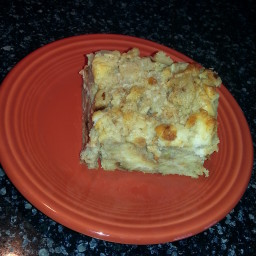 Vanilla Bean Apple Bread Pudding
