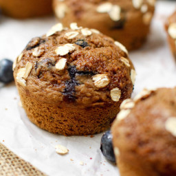 Vanilla Blueberry Muffins (Oil-free + GF)