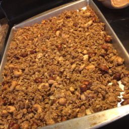 Vanilla Cinnamon Granola topping for yogurt