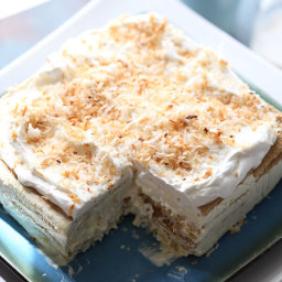 Vanilla Coconut Cream Ice Box Cake