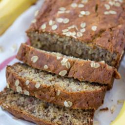 Vanilla Oatmeal Banana Bread