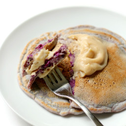 Vanilla Purple Sweet Potato Pancakes