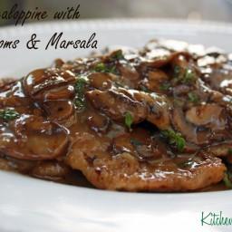 Veal Medallions with Mushroom-Wine Sauce