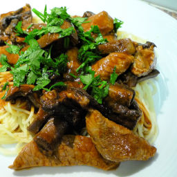 Veal with Tomato and Mushroom Sauce