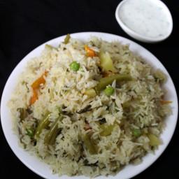 veg pulao recipe, how to make veg pulao