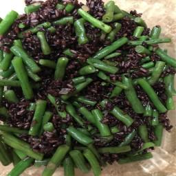 Veg, Rice (Wild) and Green Beans