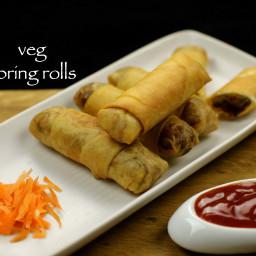 veg spring rolls recipe | vegetarian spring rolls recipe | spring roll reci
