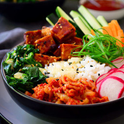 Vegan Bibimbap with Crispy Rice