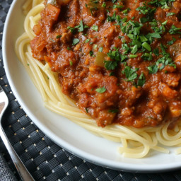 Vegan Bolognese with Beyond Meat