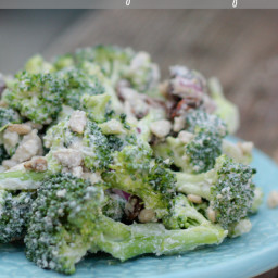 Vegan Broccoli Raisin Salad