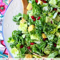 Vegan Caesar Salad with Crispy Baked Tofu