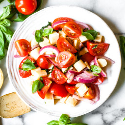 Vegan Caprese Salad With Hearts Of Palm