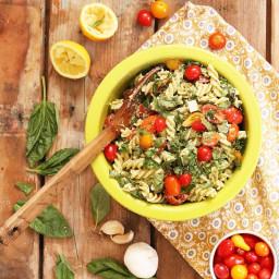 Vegan Caprese Salad with Pesto