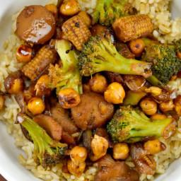 Vegan Chickpea Stirfry Bowl