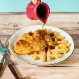 Vegan Chik'n and Waffles